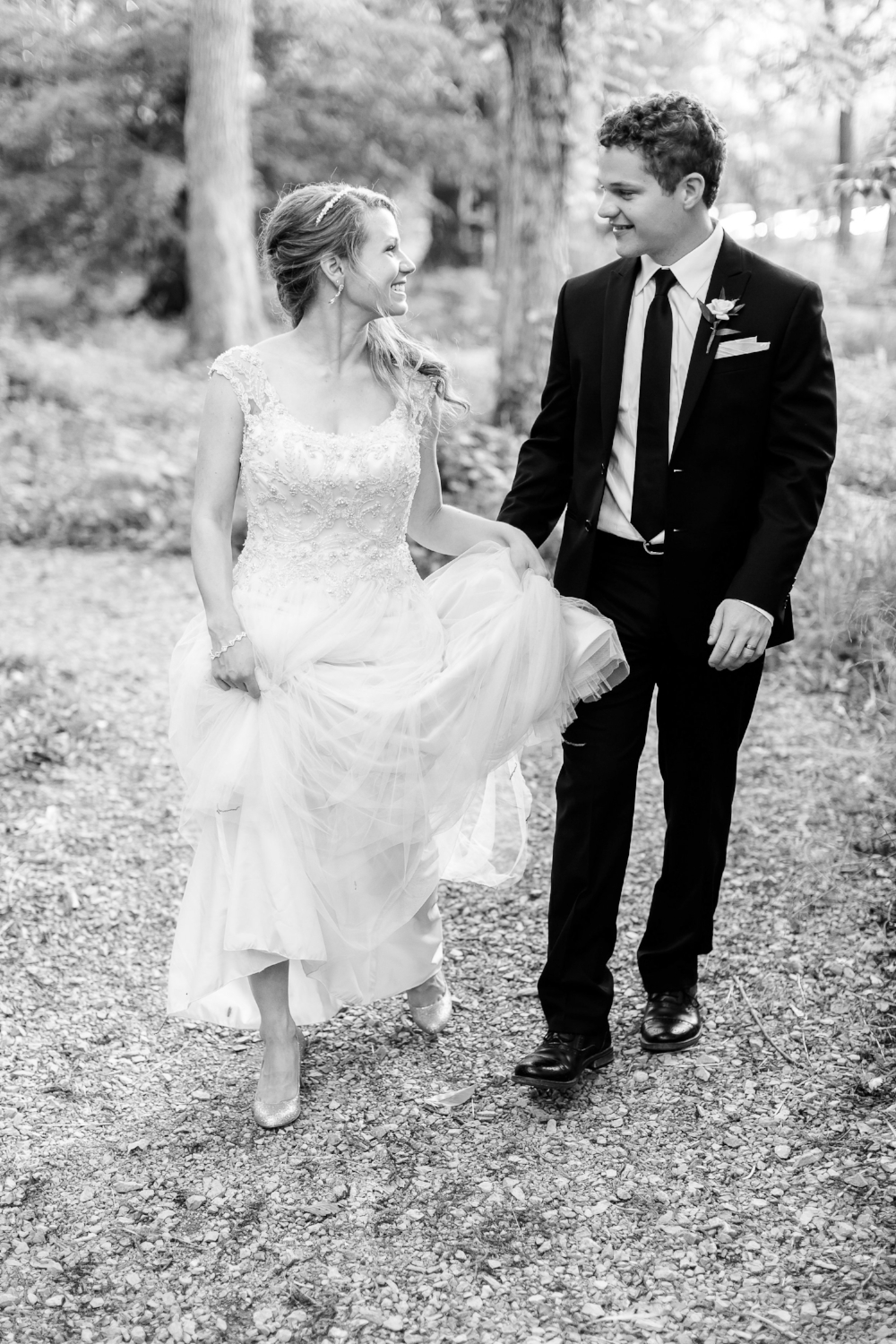 Here I am on my wedding day with my husband David (Image by:    Jenny Haas   )