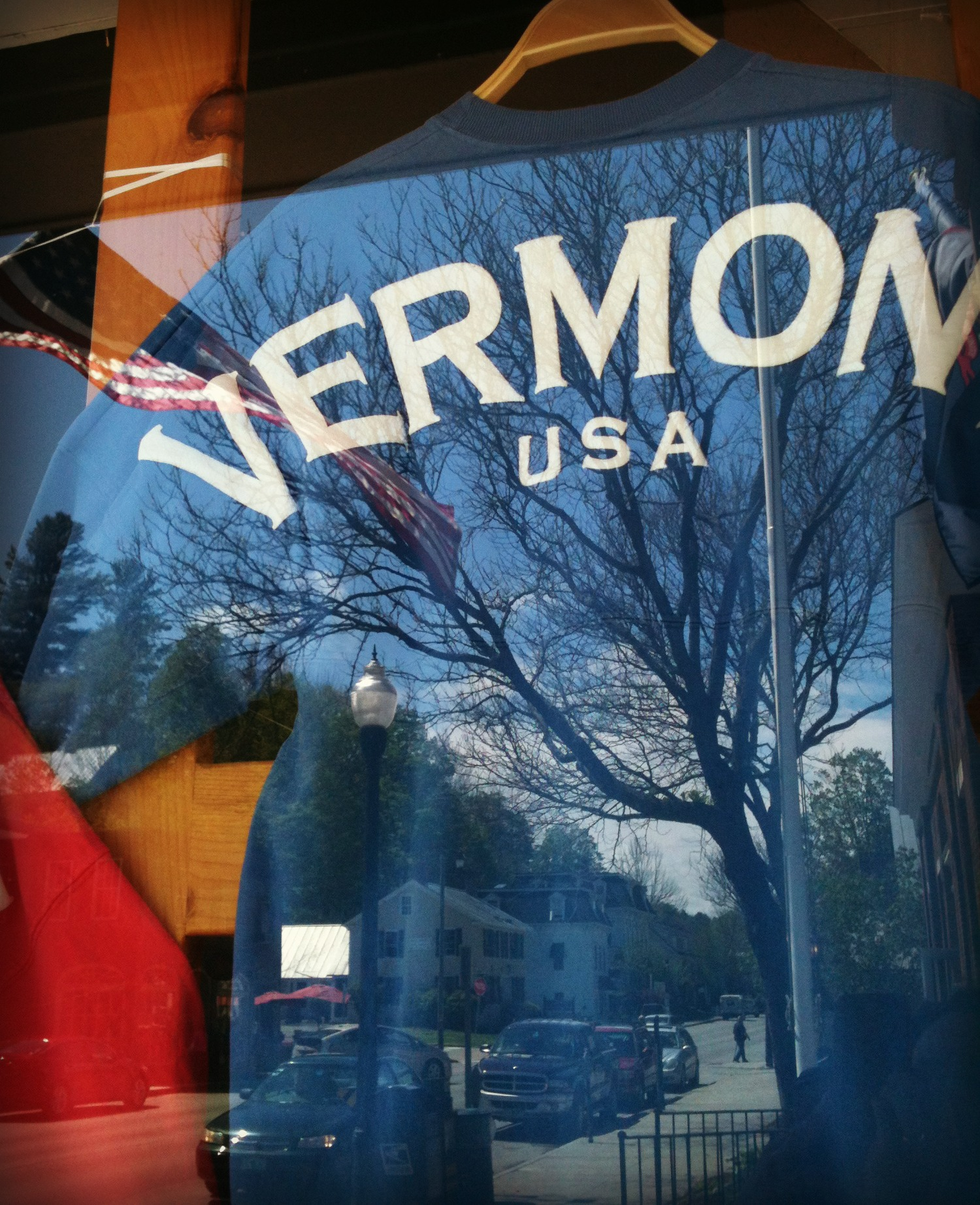 Woodstock Vermont is the perfect small town. Can you see it reflected in the tee shirt?