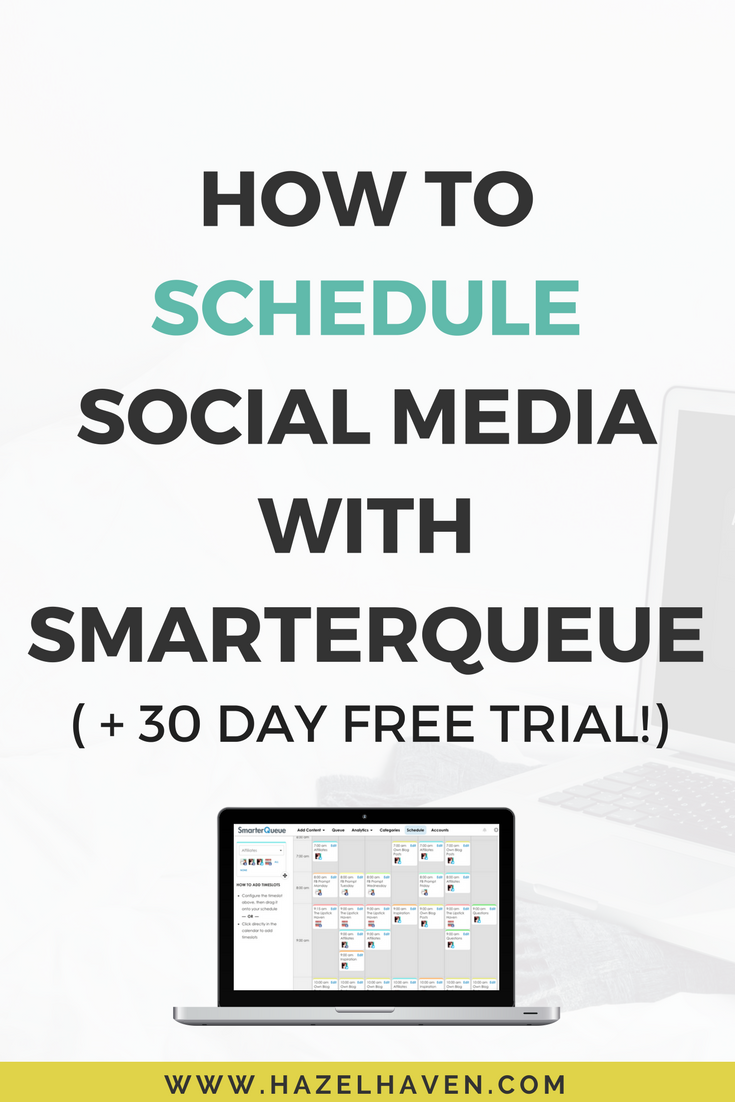How to Schedule Social Media with SmarterQueue (+ 30 day free trial)