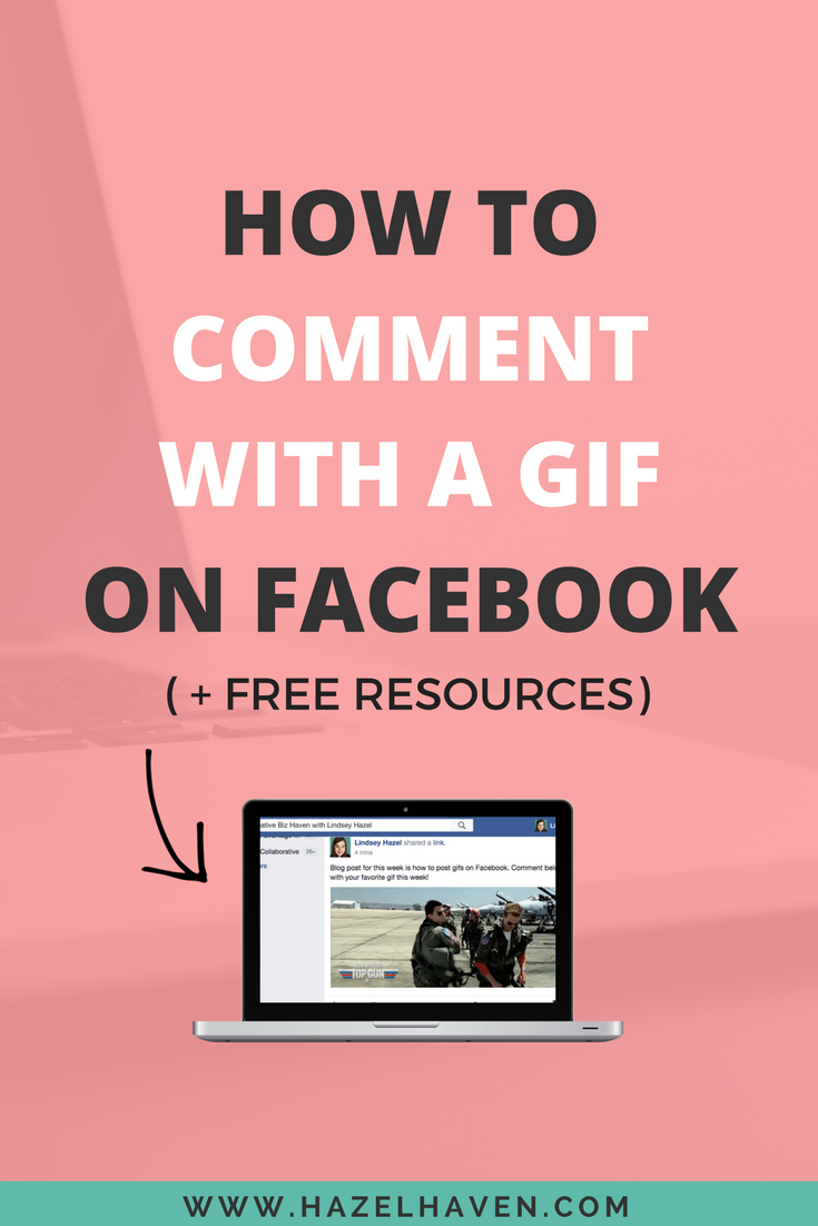 How to comment with a gif on facebook via hazelhaven.com