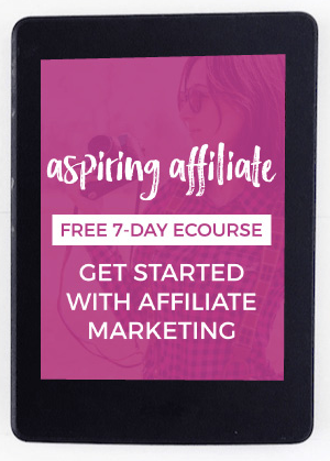 Get started with Justine Grey's Aspiring Affiliate e-course! #affiliatemarketing