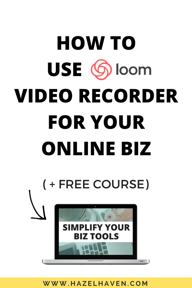 How to Use Loom Video Recorder for Your Online Business: My Review #screencast #screenrecording #blogging
