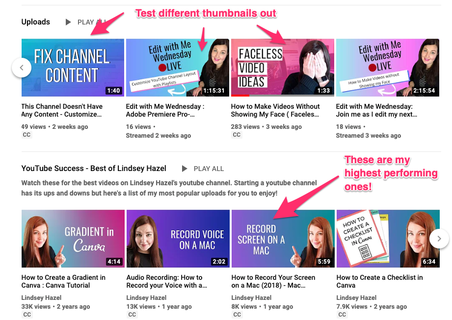 Change your thumbnails on YouTube and test different ones out!