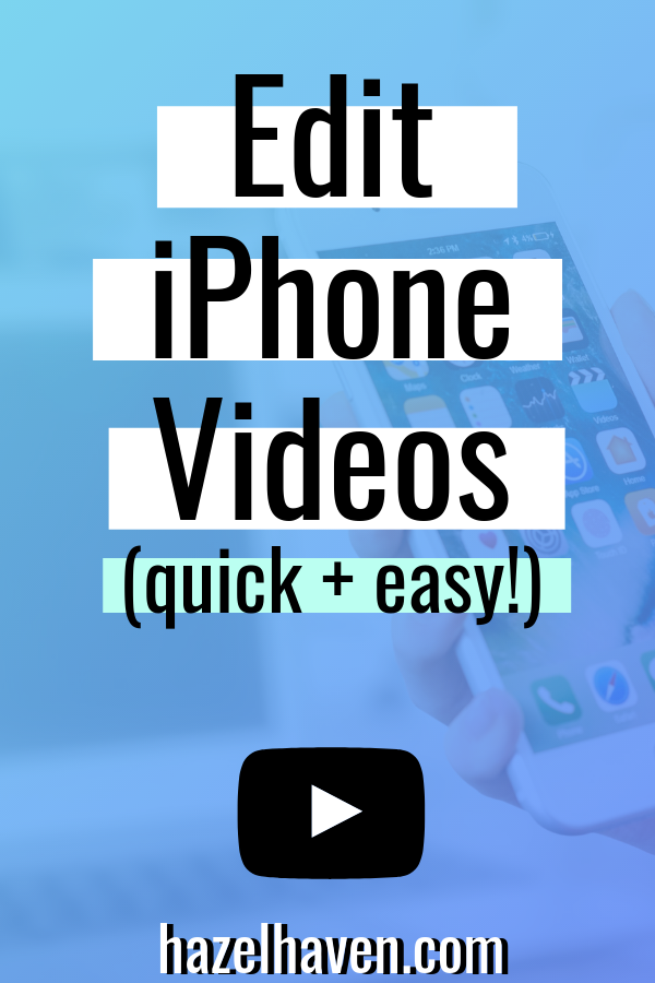 Edit Videos on iPhone - Easy Video Editing Apps 2019,