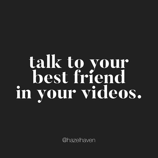 "This is hands down the best advice anyone ever gave me when it came to recording videos. ⠀⠀⠀⠀⠀⠀⠀⠀⠀ ⠀⠀⠀⠀⠀⠀⠀⠀⠀ When I started recording videos I would get so nervous and my voice would crack. I would say, ""uh and ummm"" all the time.. and then a friend who works in public speaking told me this tip, talk to your best friend in your videos. Think of that one person that you know would benefit from your video. ⠀⠀⠀⠀⠀⠀⠀⠀⠀ ⠀⠀⠀⠀⠀⠀⠀⠀⠀ Well, my best friend is Erin. We met in college and were roommates. She is the complete opposite of me, she is non-techie, hilarious and loud- but she encourages me to be myself, has been there through thick and thin and I love her to pieces. We don't talk often but when we do it doesn't feel like any time was lost in between. ⠀⠀⠀⠀⠀⠀⠀⠀⠀ Once I made the switch to talking to her in my videos, it made video creation SO MUCH easier. I take my time explaining how to do something knowing she is not as technical as I am. I laugh more, I don't take myself so seriously and iI enjoy helping ONE person in my videos! ⠀⠀⠀⠀⠀⠀⠀⠀⠀ ⠀⠀⠀⠀⠀⠀⠀⠀⠀ ⠀⠀⠀⠀⠀⠀⠀⠀⠀ So for your next video, Instagram story or facebook live... try this! Who is your best friend? Can you see yourself trying this out? Please let me know how this trick works out for you! I'd love to know! ⠀⠀⠀⠀⠀⠀⠀⠀⠀ ⠀⠀⠀⠀⠀⠀⠀⠀⠀ #onevideoatatime #smallyoutuber #videotips"