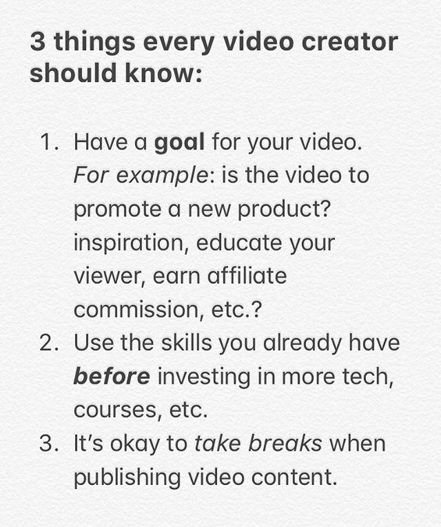 I wish someone would have told me these things when I first started creating videos! Which tip helps you the MOST??