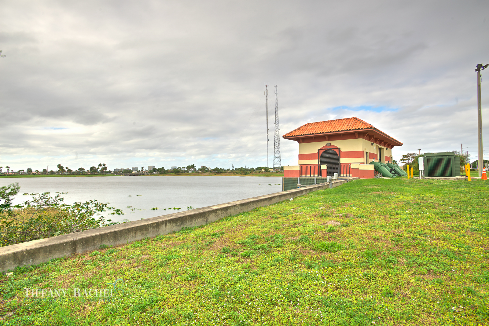 Another angle of the WPB lake and the pumps.