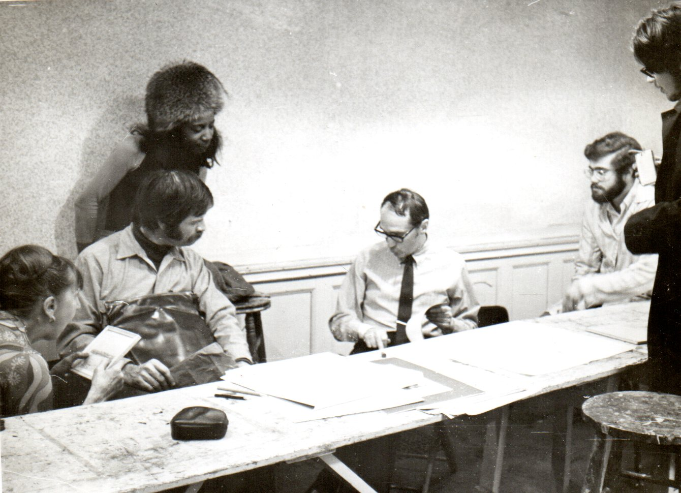 1970's.  Teaching at the Art Students League of New York