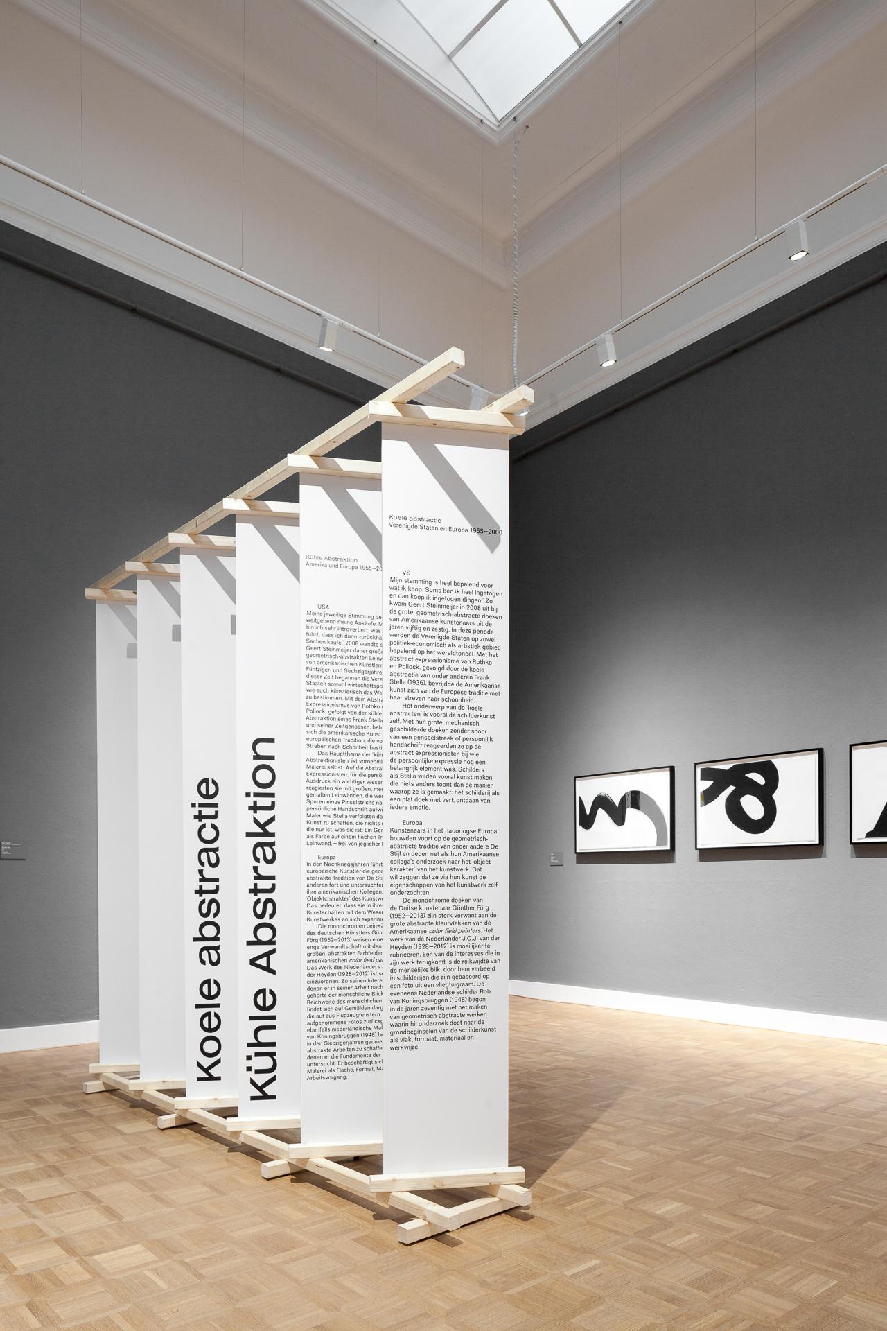 Exhibition design for De Nieuwe Smaak at Rijksmuseum Twenthe.  By Koehorst in 't Veld