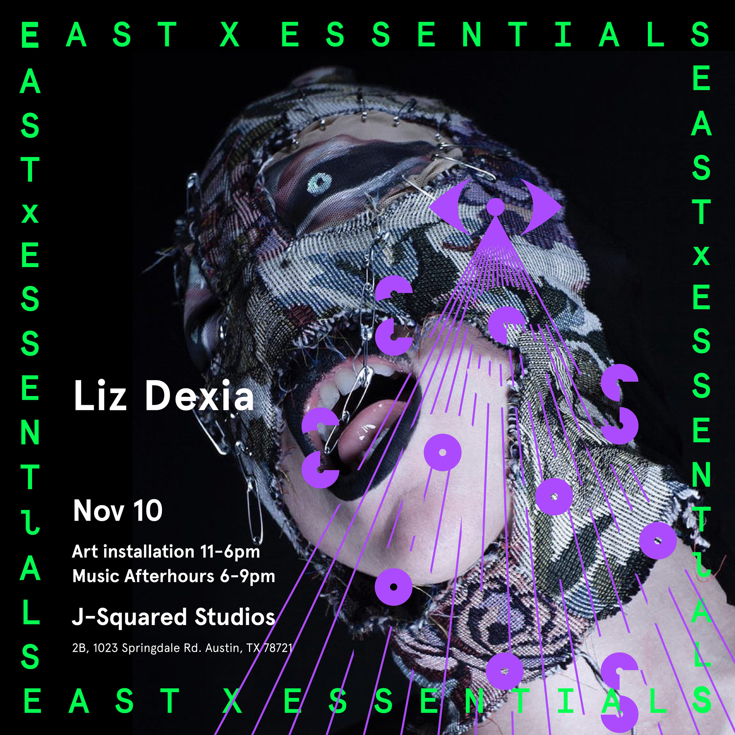 Liz Dexia, Alternate flyer for EAST X ESSENTIALS CREATIVE