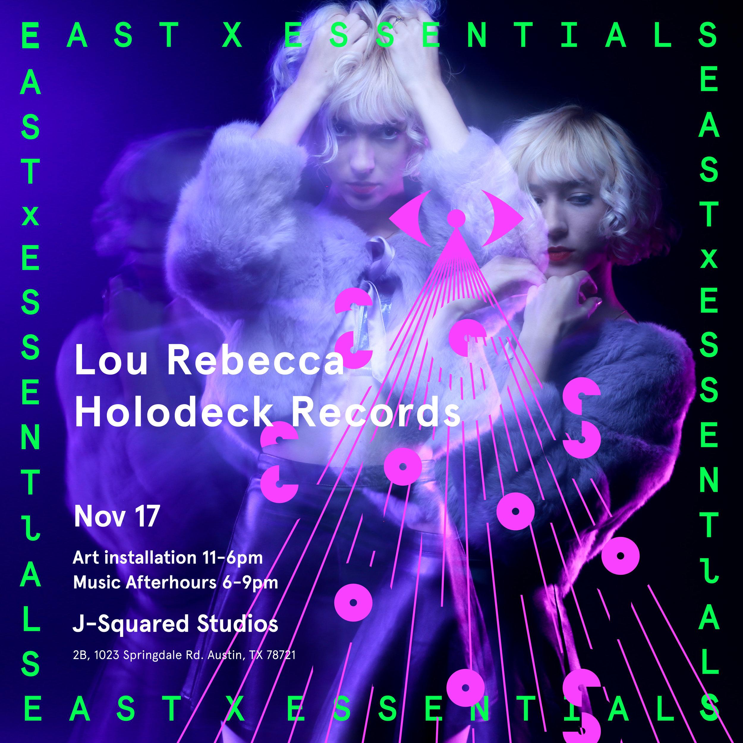 Lou Rebecca, Alternate flyer for EAST X ESSENTIALS CREATIVE