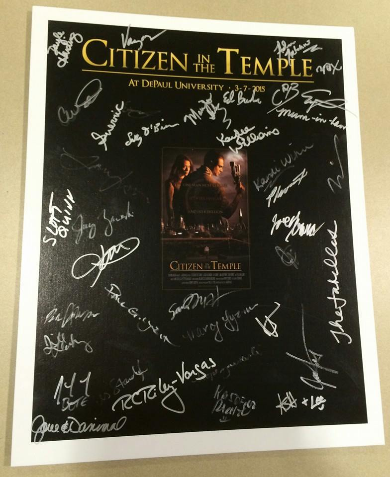 We like to collect the signatures of the important people at our events - the attendees.