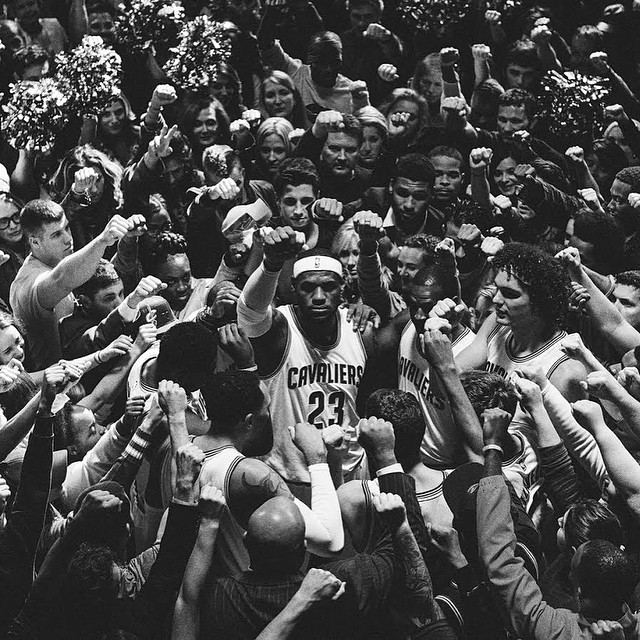 When we defend like we did tonight, we have chance to beat any team in the world. #LeBronJames #Allin #Cavs