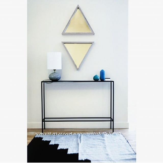 Here's a first look at one of the great finds that we are featuring in next months #TheSwatchBox. This one of a kind Troika mirror is from @WeAreMFEO_, an #LosAngeles based husband wife duo design team renowned for locally crafted furniture, lighting, and home décor. #MadeForEachOther