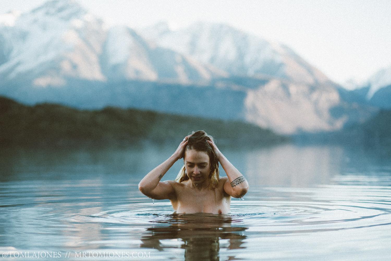 Portrait of female in water