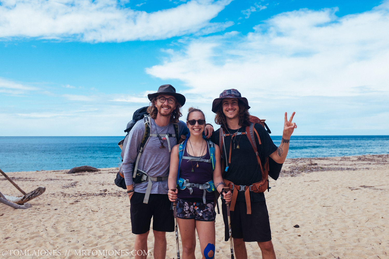Me, Deni & Chris on the beaches of the Abel Tasman track.