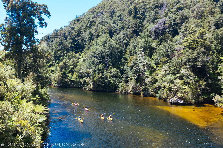 Abel Tasman is big with the kayakers.