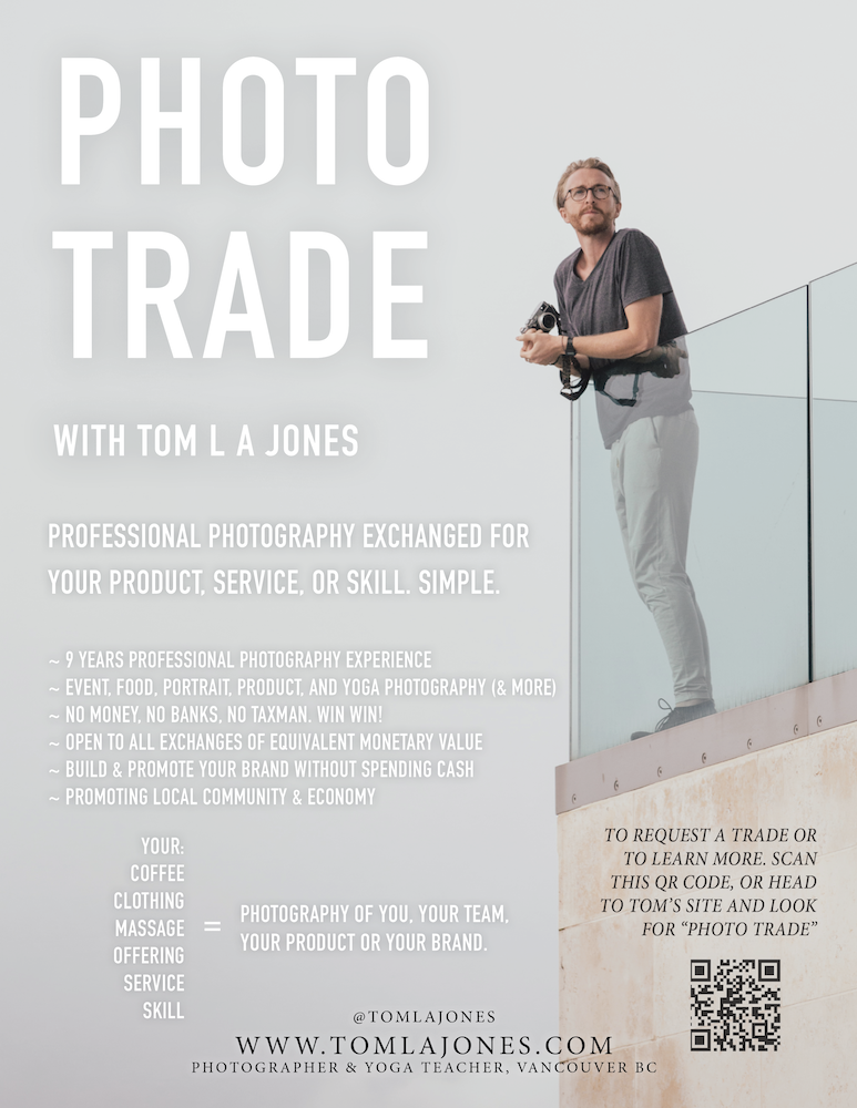 Photo Trade photography skill exchange in Vancouver