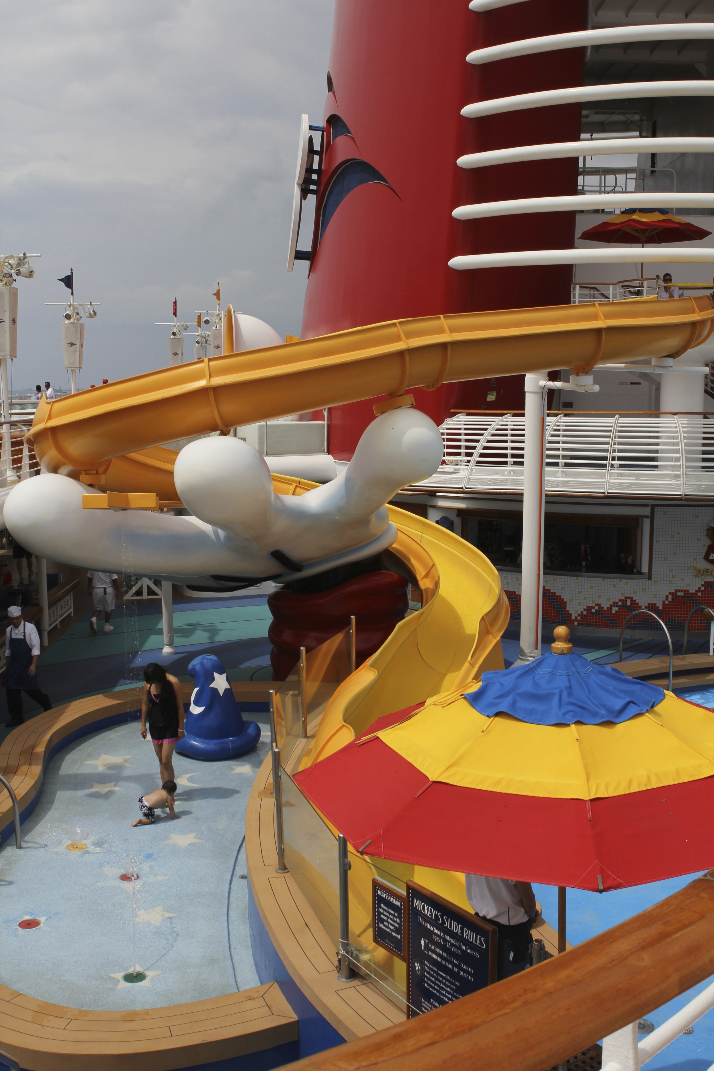 The water slide at Mickey's Pool