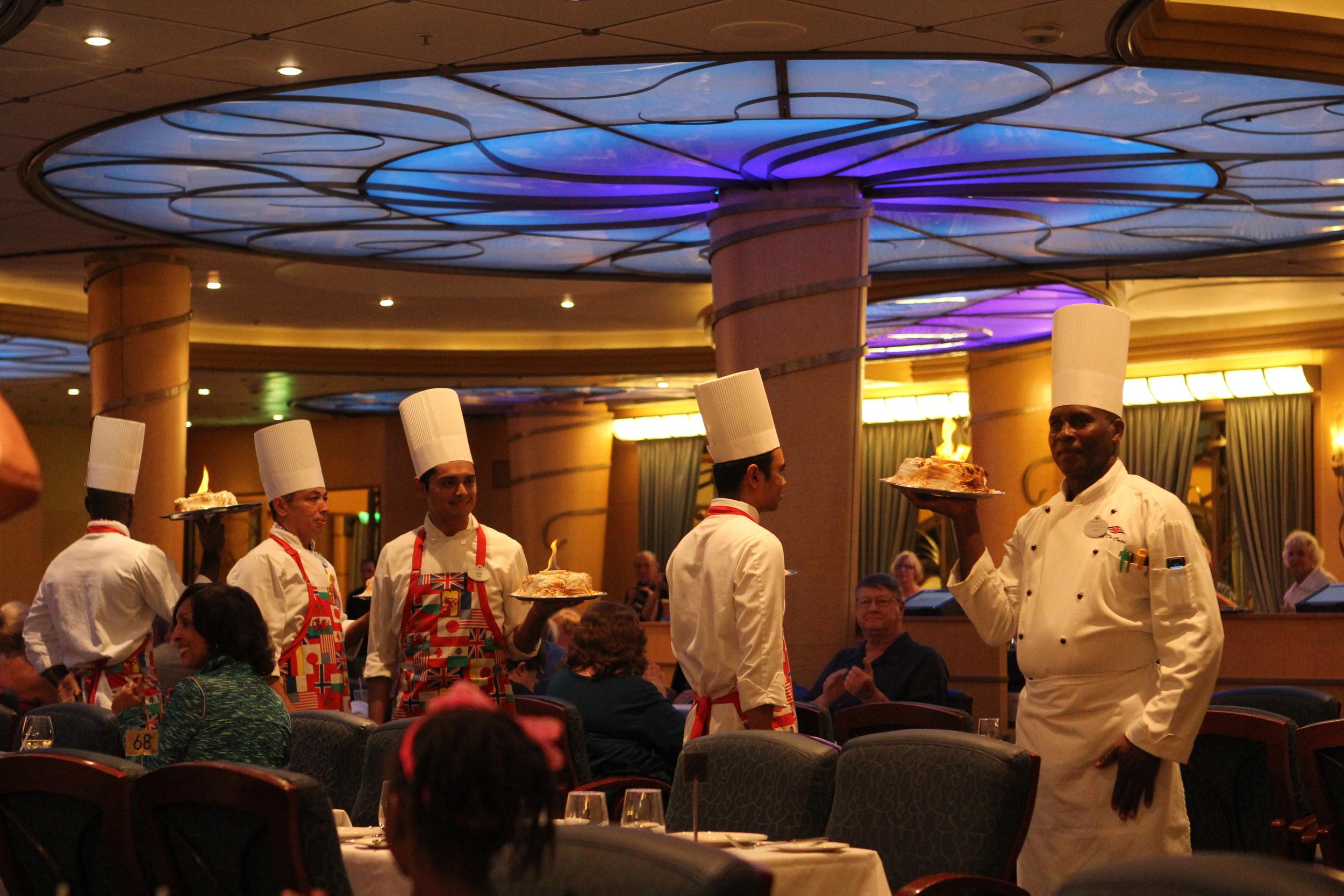 Parade of the Servers on International Night.