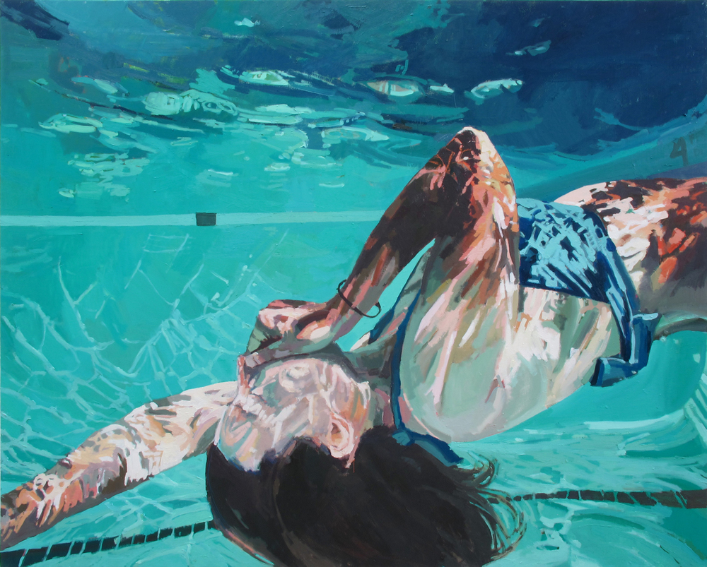 """Fall Back Surrender , 48"""" x 60"""" by Samantha French"""