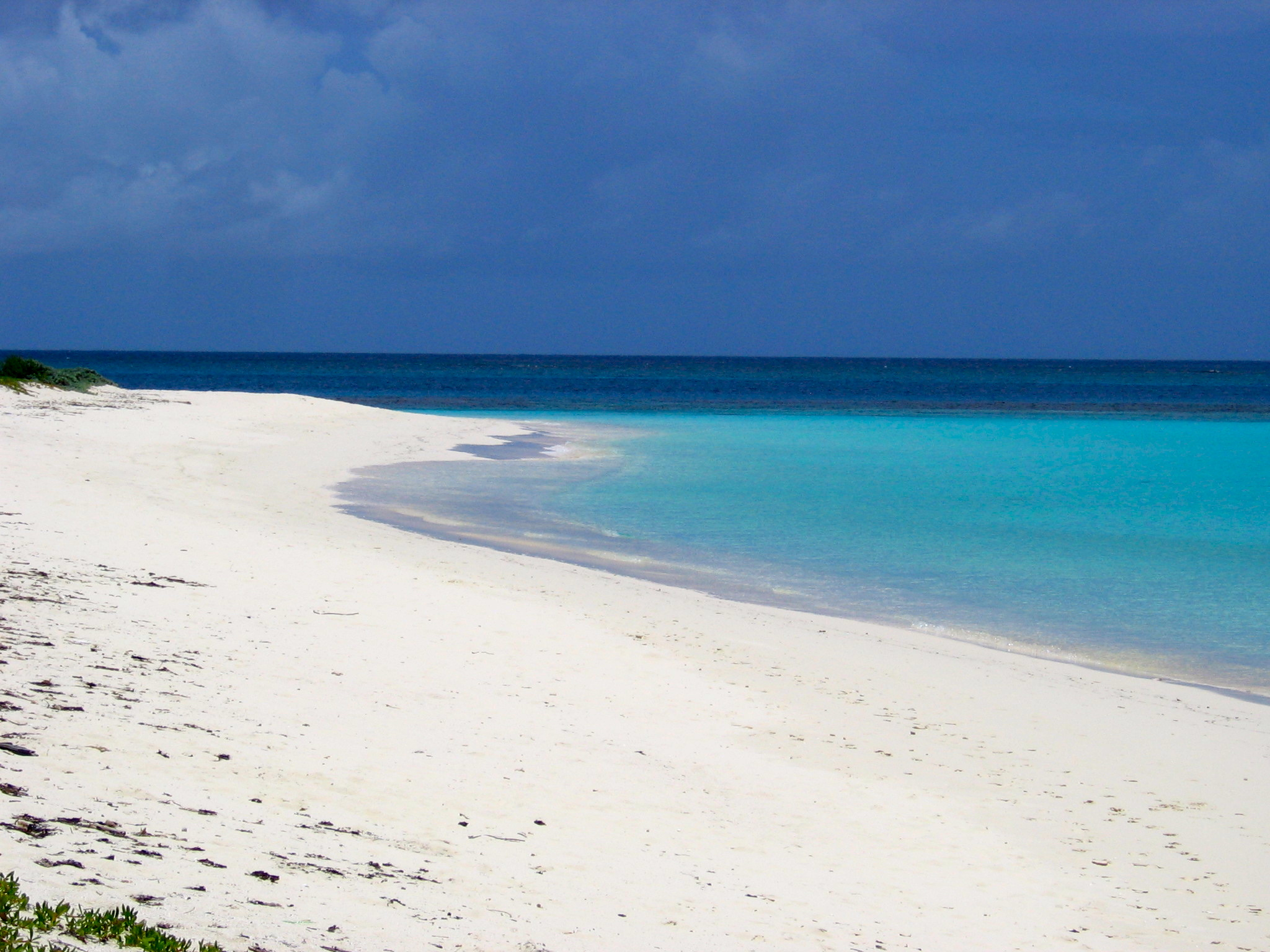 Deserted beach in Upper Shoal Bay, Anguilla.  Photo by Rebecca Garland.