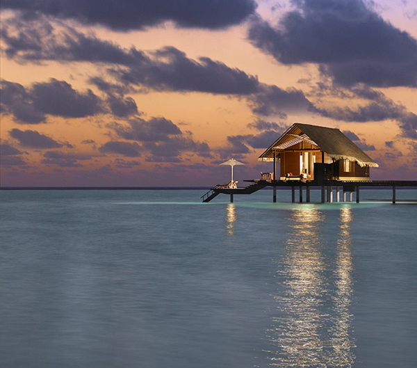 Water villa at One & Only Reethi Rah, Maldives.  Photo courtesy of One & Only Reethi Rah.