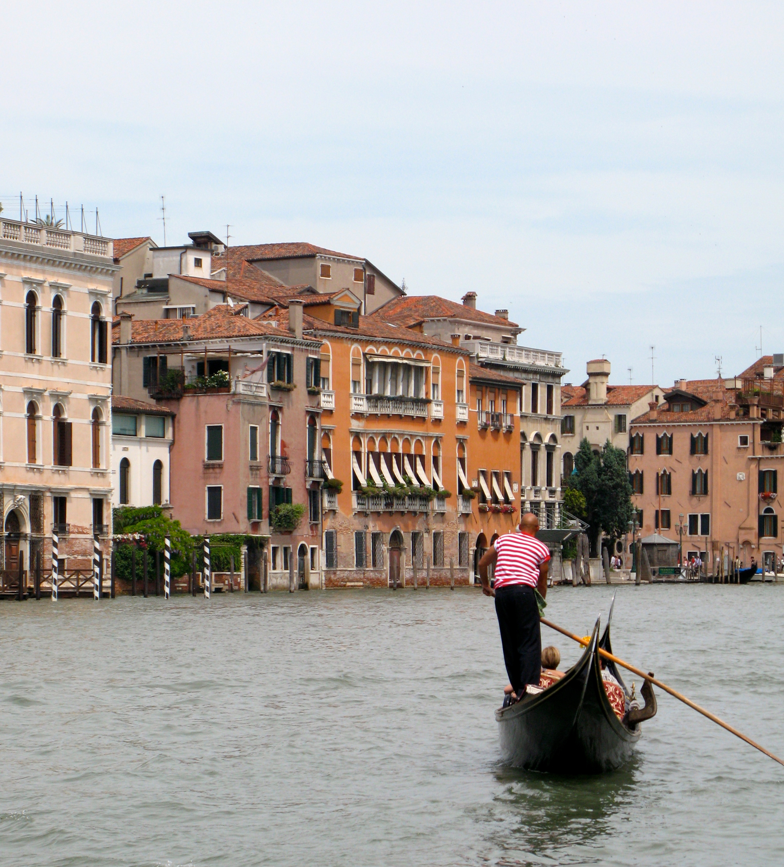 A couple taking a gondola ride in Venice, Italy.  Photo by Rebecca Garland.