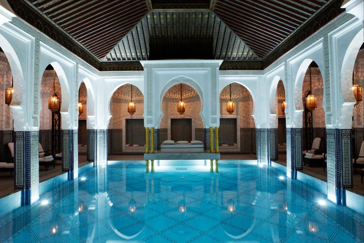 The spa at La Mamounia in Marrakech.  Photo courtesy of La Mamounia.