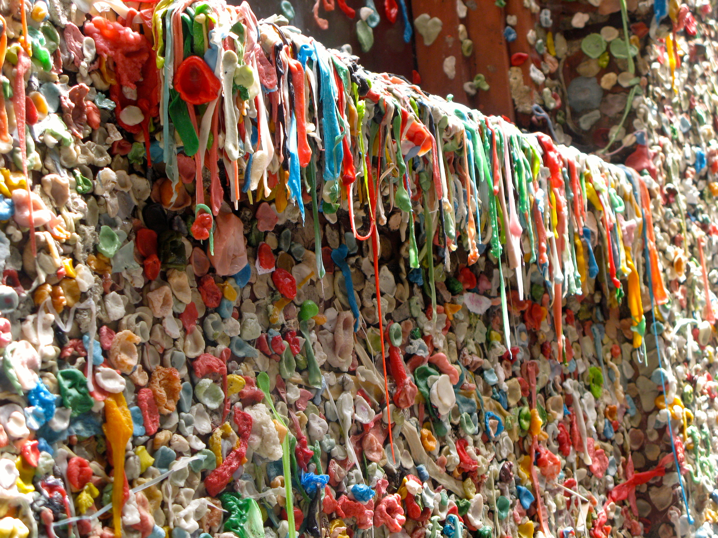 Gum wall in downtown Seattle.  Photo by Rebecca Garland.