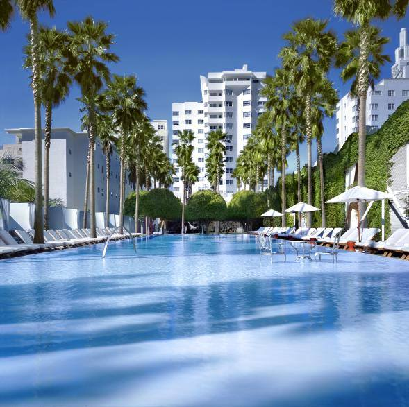 Delano Hotel pool.  Photo courtesy of Morgans Hotel Group.