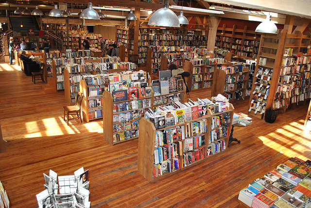 Main floor of Elliott Bay Books.  Photo by Elliott Bay Book Company.