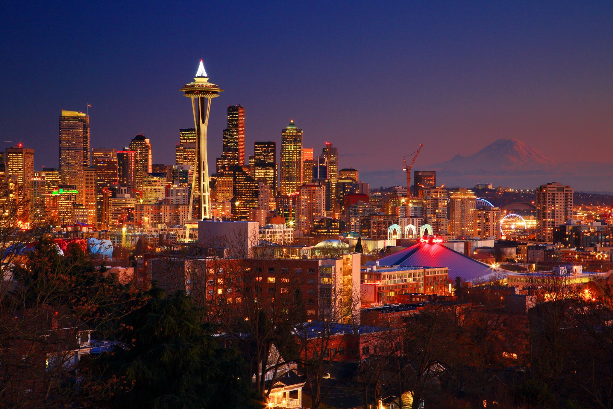 View of Downtown Seattle and Mt. Rainier from Kerry Park.  Photo by Randall J. Hodges Photography.