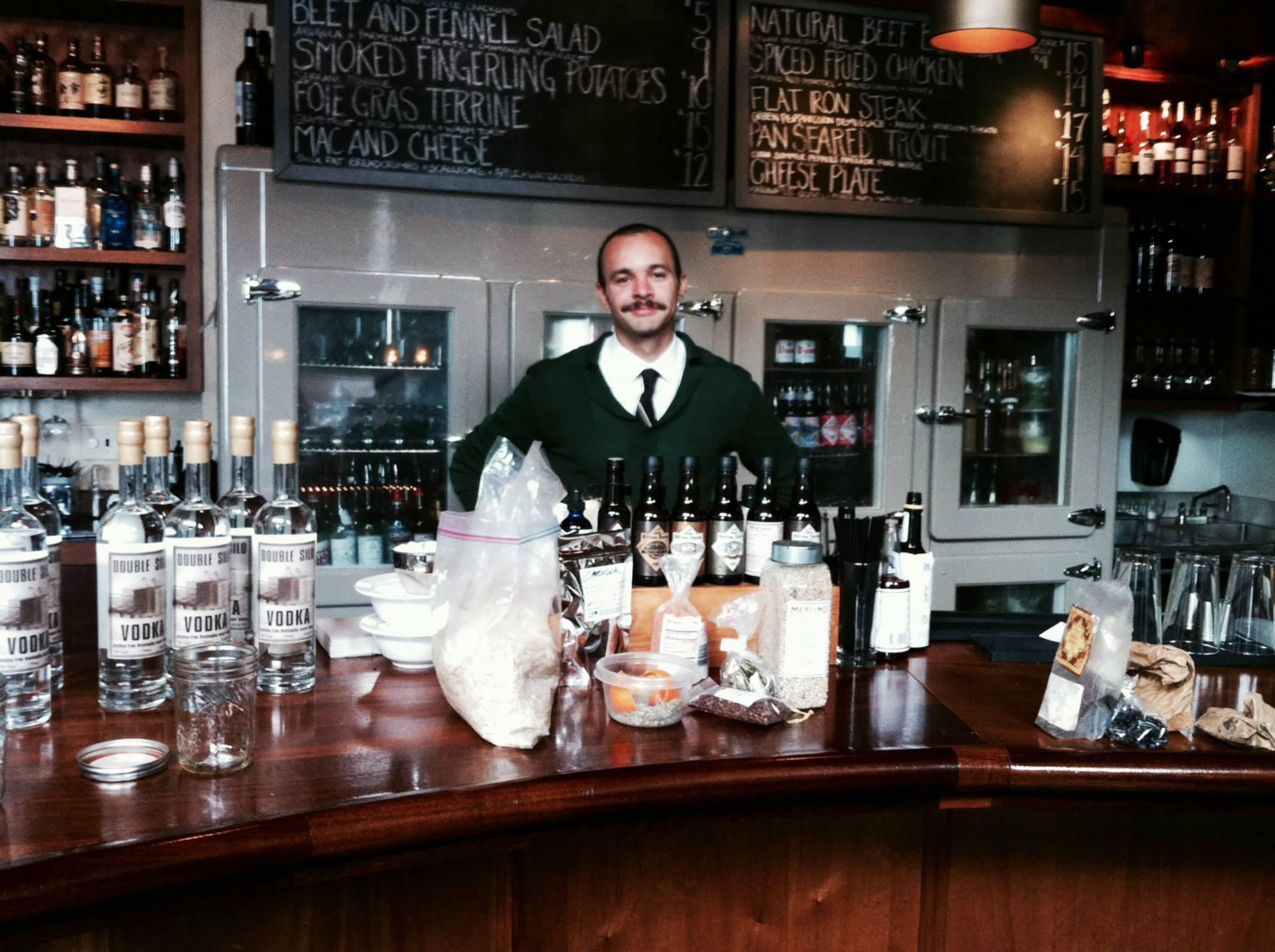 Behind the bar at Tavern Law.  Photo by Tavern Law.