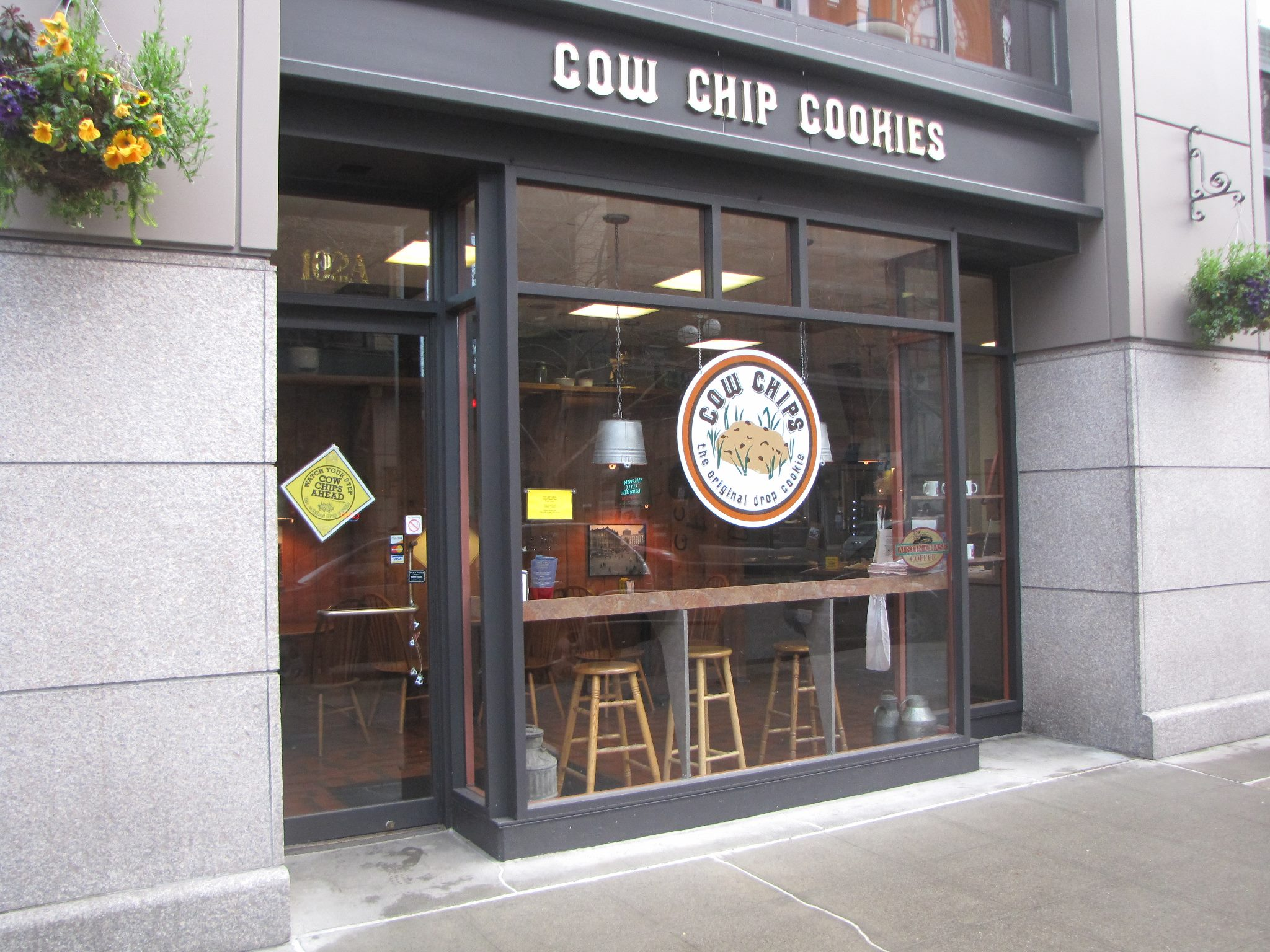 Cow Chip's Pioneer Square storefront. Photo by Cow Chip Cookies.
