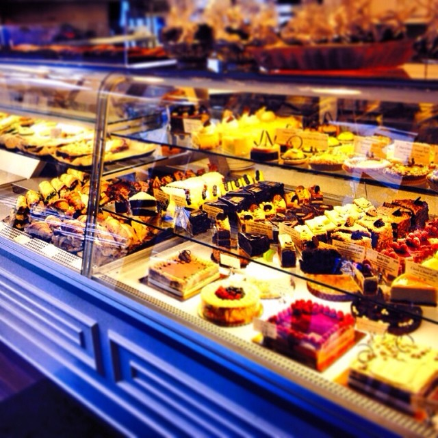 Delicious treats in the bakery case at Bakery Nouveau.  Photo by Bakery Nouveau.