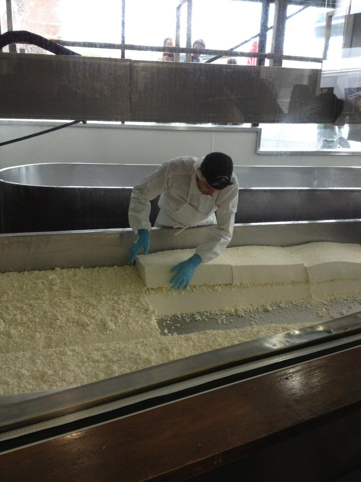 Watching the cheesemaking at Beecher's at Pike Place Market. Photo by Beecher's Handmade Cheese.