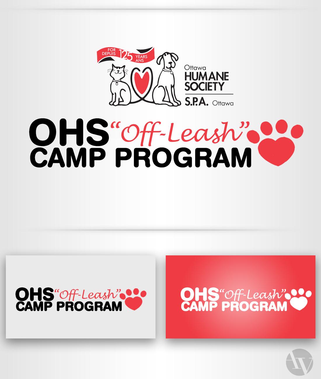 """Ottawa Humane Society """"Off-Leash"""" Program Logo"""
