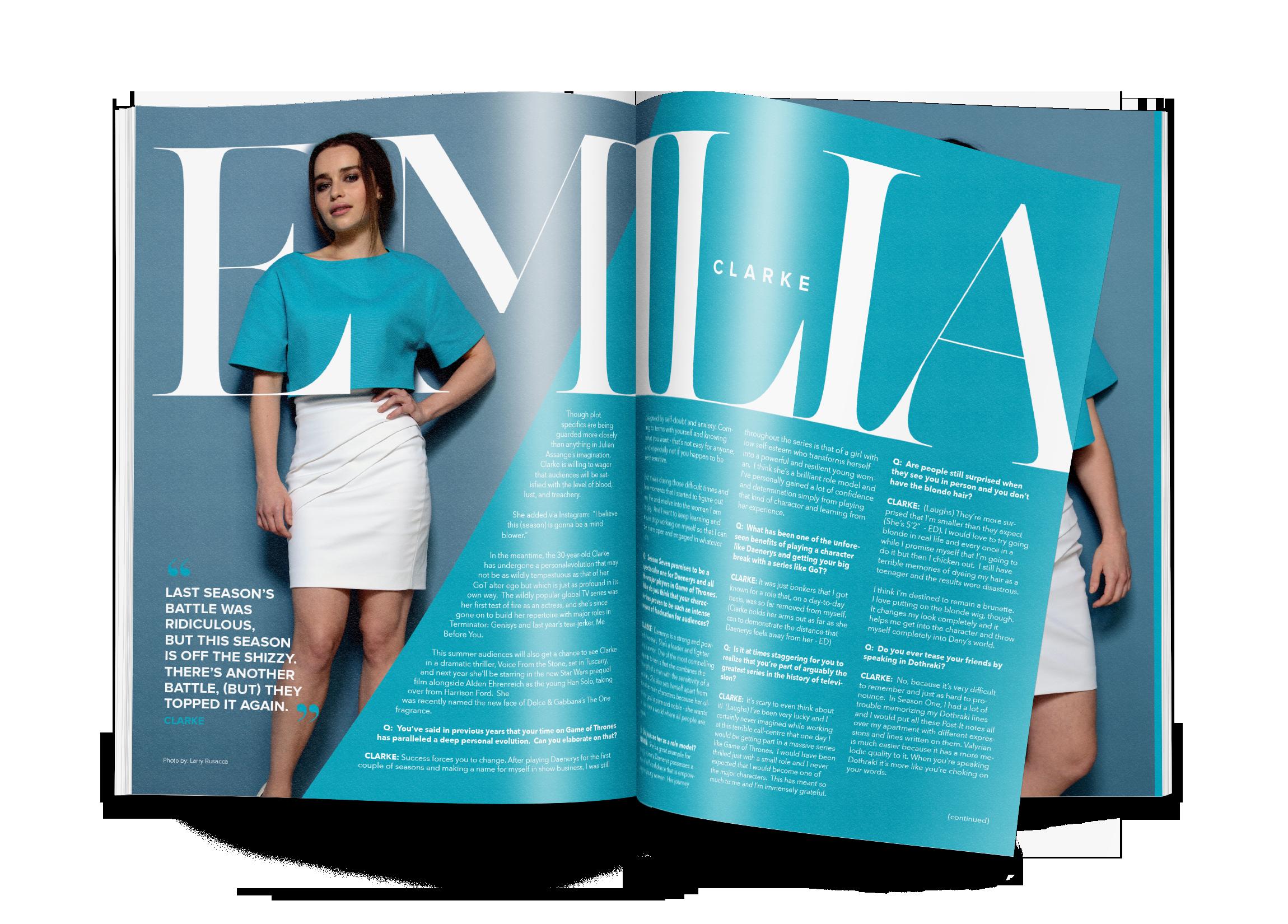 FACES Magazine Interview Spread Design