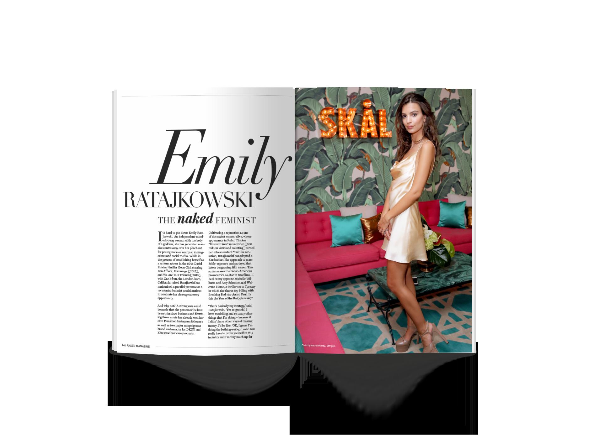 FACES Magazine - Emily R Interview Spread Design