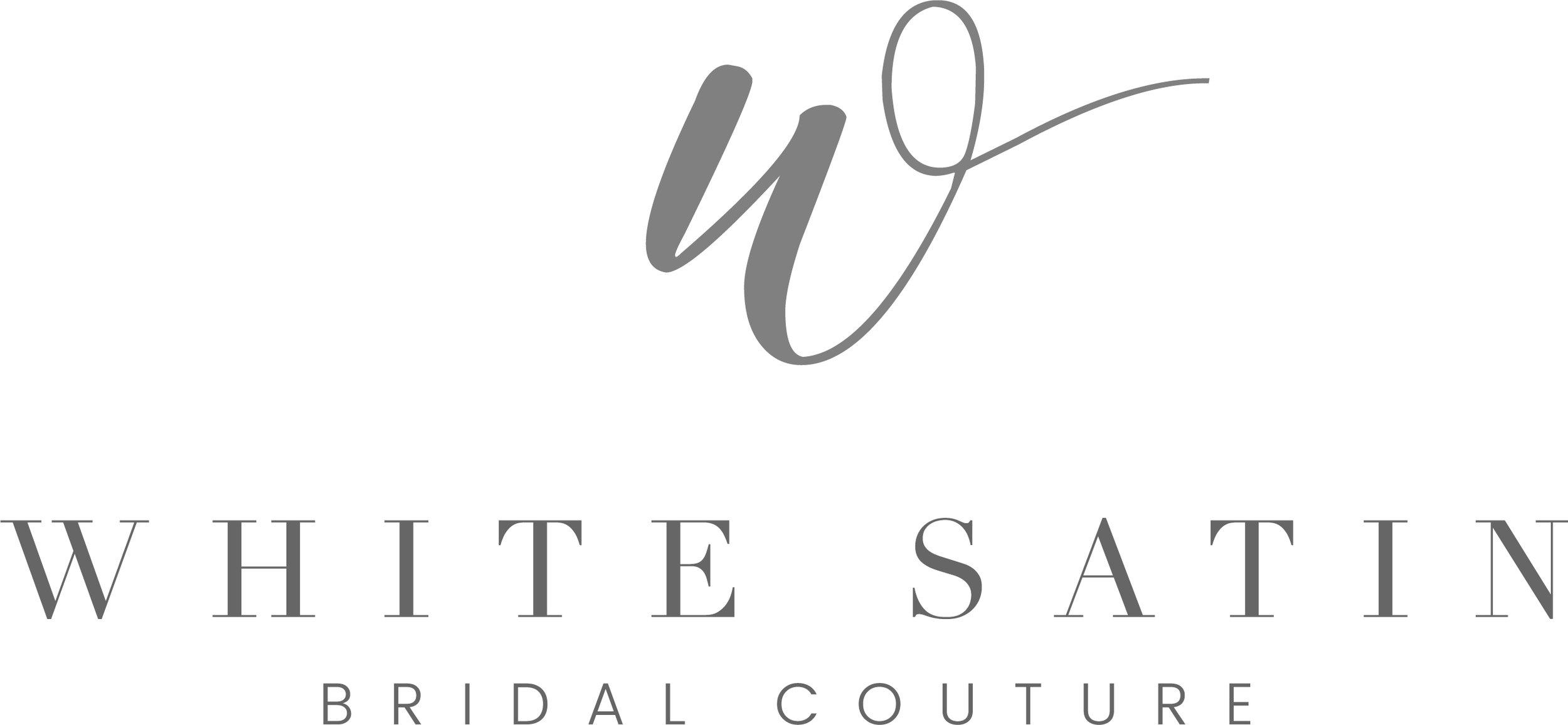 Logo Design for White Satin Bridal Couture