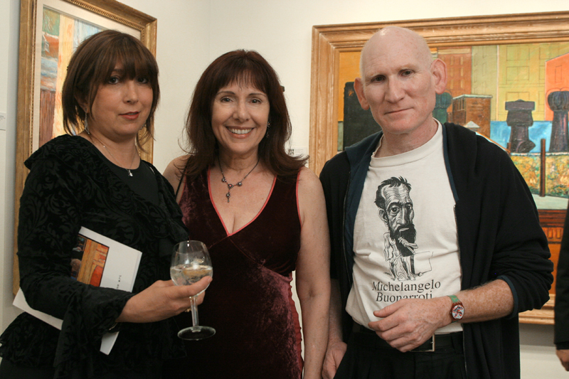 Baila Romm, Anna Bogdanovich and Peter Frank Impressions Exhibit Opening night