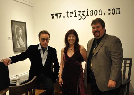 Peter Bogdanovich, Anna Bogdanovich, Trigg Ison; (John M. Heller/Getty Images)