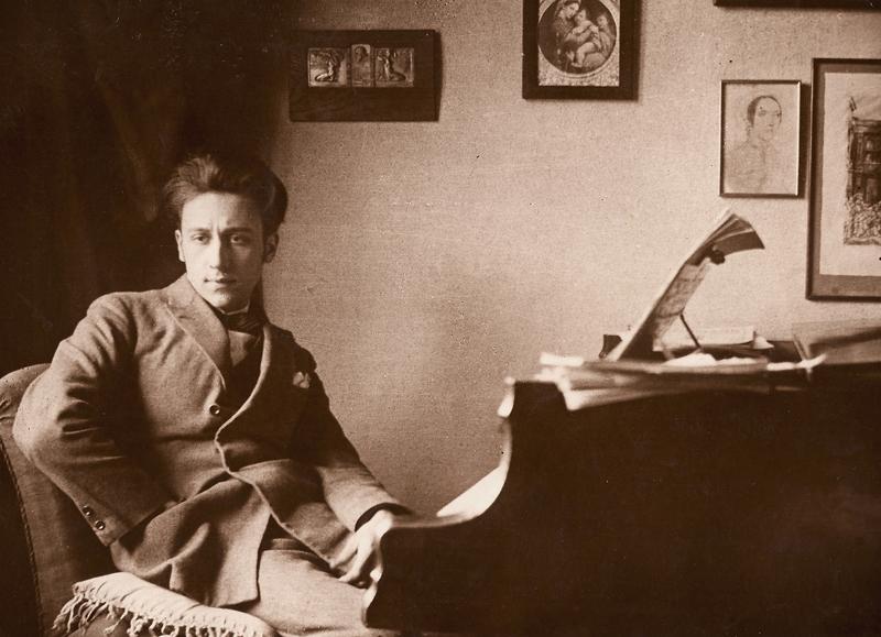 Borislav at Piano 1918