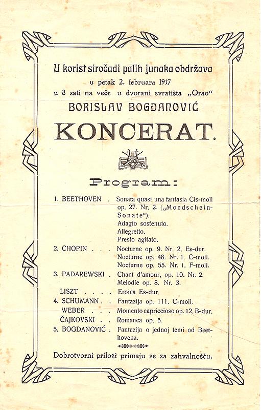 Concert Program 1917