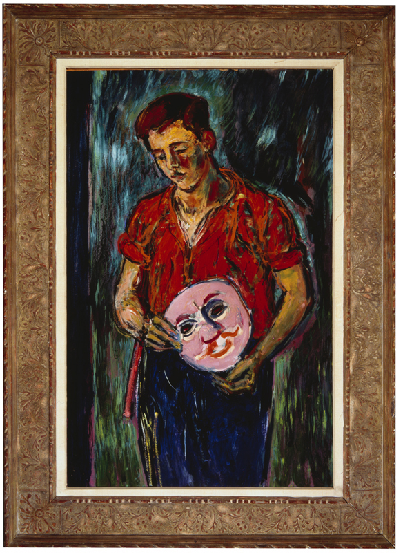 The Actor 1951 (raised gesso, gold leaf frame by Herma 1960)