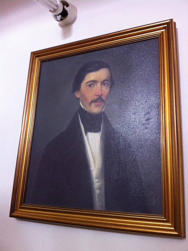 Grandfather Antonije's brother Konstantin Bogdanović   Portrait in Ruma Museum