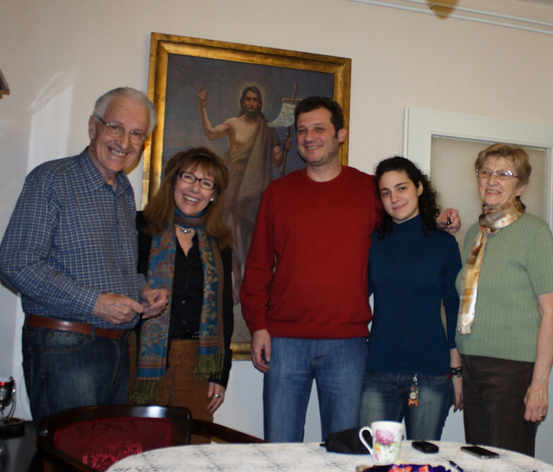 My cousins Antonije Bogdanović with his wife; son Ljubiša Bogdanović   and Tamara