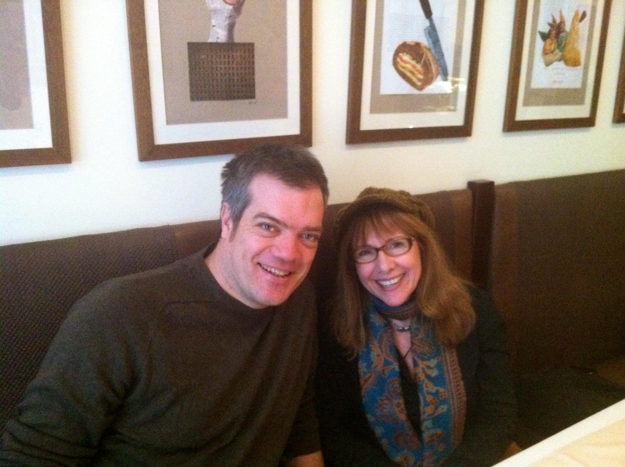 Vanda and I ran into cousin / artist Mihail Milunović at the Pane E Vino Restaurant
