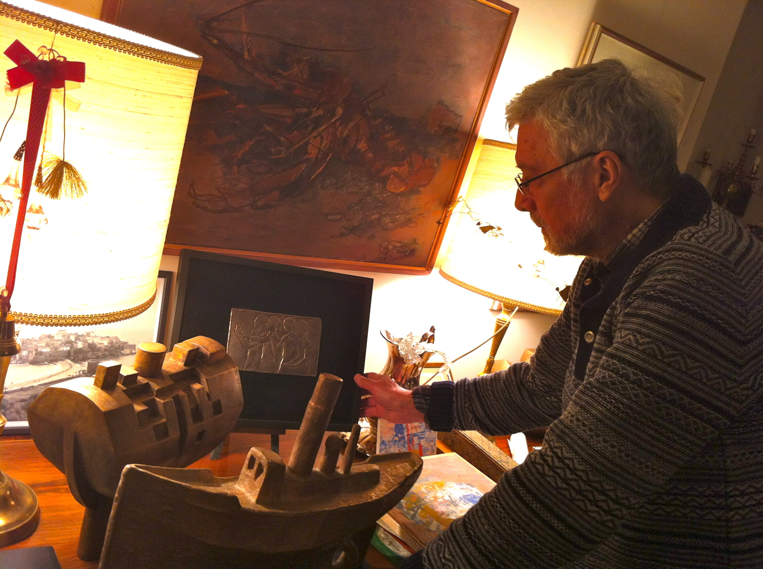 """Cousin / Sculptor and Artist Nikola-Kolja Milunović showed me his studio and drew a free hand """"family tree"""" ...to be filled in at a later date TBD!"""